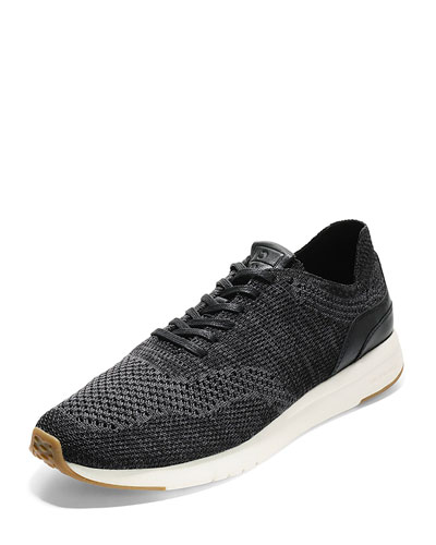 Men's GrandPro Knit Runner Sneaker, Black