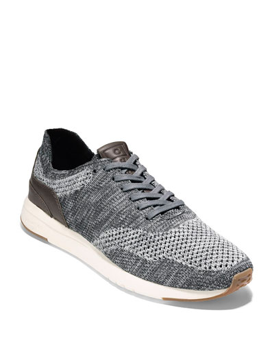 Men's GrandPro Knit Runner Sneakers, Gray