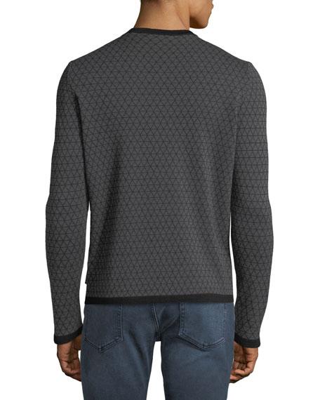 Men's Geometric Jacquard Wool Sweater