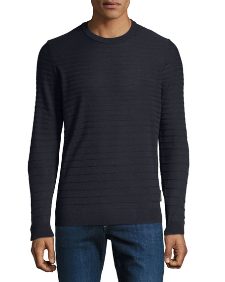 Emporio Armani Men's Maglia Tonal Stripe Sweater
