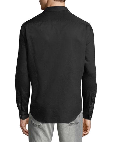 Men's Micro-Woven Casual Button-Down Shirt