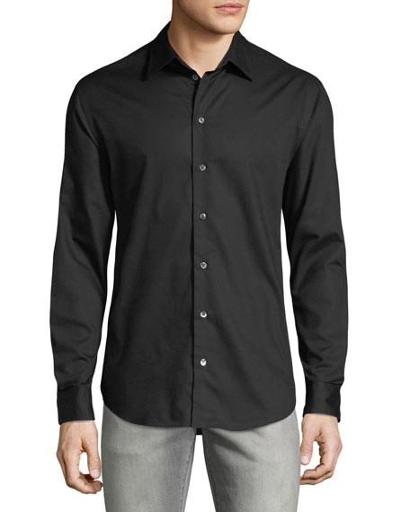 Emporio Armani Men's Micro-Woven Casual Button-Down Shirt