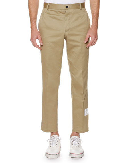 Unstructured Twill Chino Pants