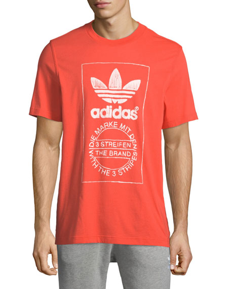 Adidas Men's Hand-Drawn Graphic T-Shirt