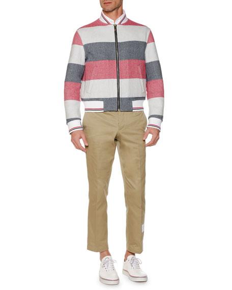 Men's Reversible Wool Bomber Jacket