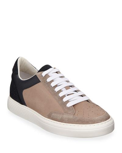 Men's Colorblock Low-Top Sneakers