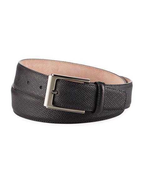 Magnanni for Neiman Marcus Men's Grabado Leather Belt