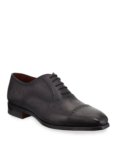 Men's Textured Lace-Up Dress Shoes