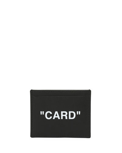 Men's Quote Leather Card Case