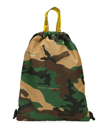 Men's Camouflage Nylon Sling Sack Backpack