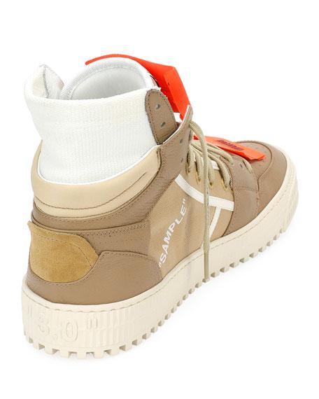Men's Low 3.0 Suede/Leather High-Top Sneakers, Beige