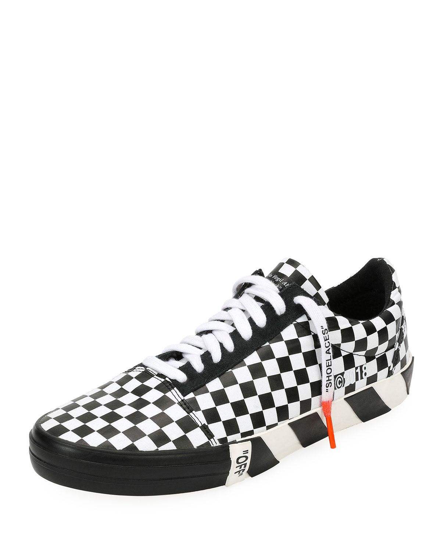 553f8922393 Off-White Men s Vulc Checkered Low-Top Sneaker