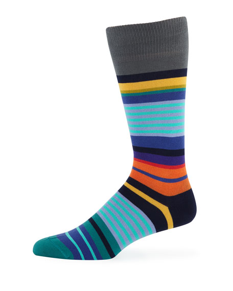Paul Smith Men's Grande Stripe Cotton-Blend Socks