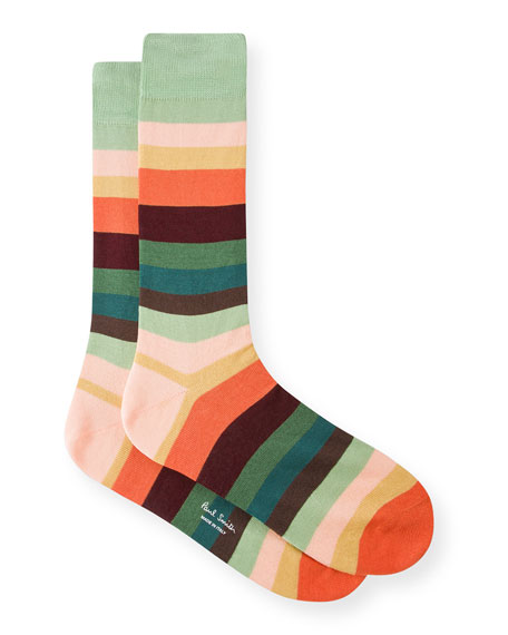 Men's Artist Stripe Cotton-Blend Socks