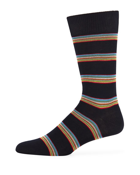 Men's Multi-Block Striped Socks