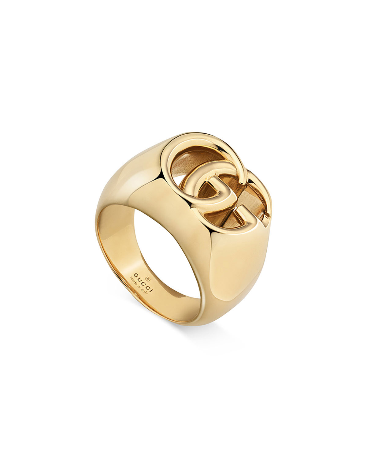 0423f988decbeb GucciMen's 18k Gold GG Running Ring, Size 10.5