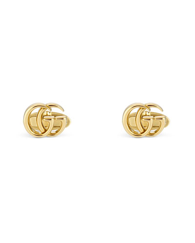 18k Yellow Gold GG Running Cufflinks