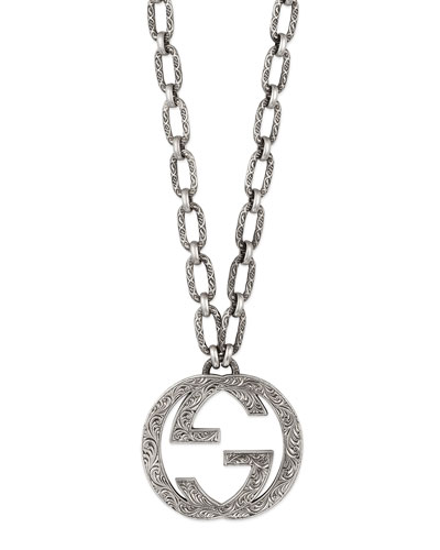 Men's Interlocking G Pendant Necklace