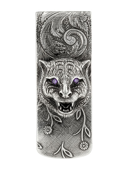 Men's Feline Money Clip