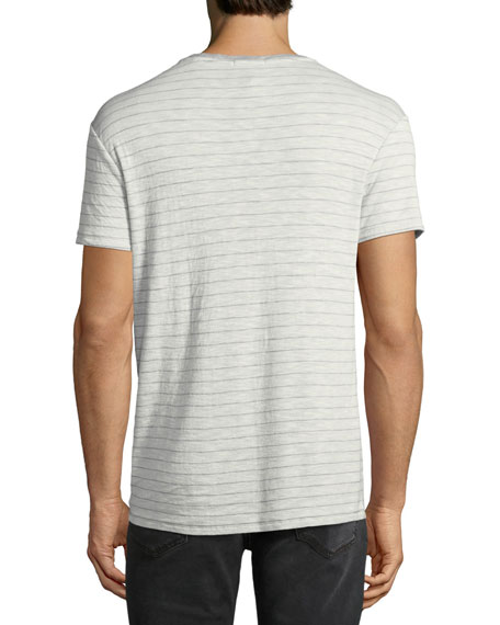 Men's Striped Slub T-Shirt