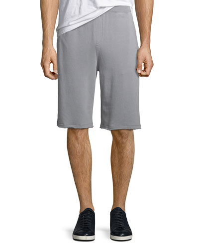 Pigment-Wash French Terry Shorts