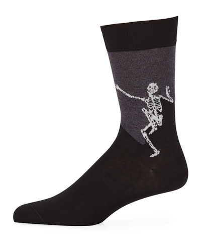 Men's Dancing Skeleton Cotton Socks