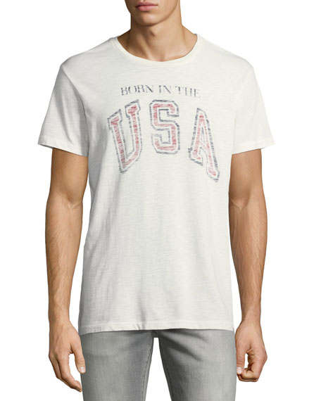 Men's Born in the USA Typographic T-Shirt