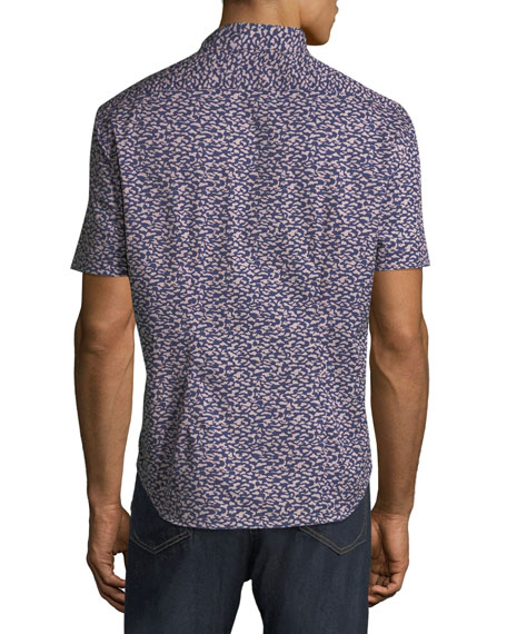 Men's Graphic-Print Soft Touch Short-Sleeve Sport Shirt