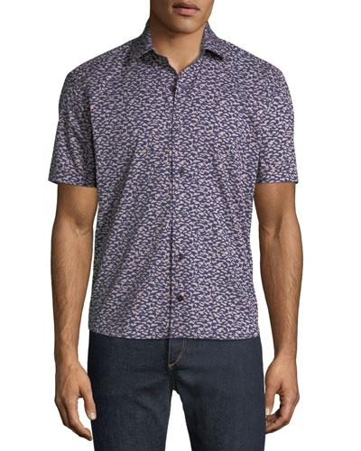 Men's Graphic-Print Soft Touch Short-Sleeve Sport Shirt