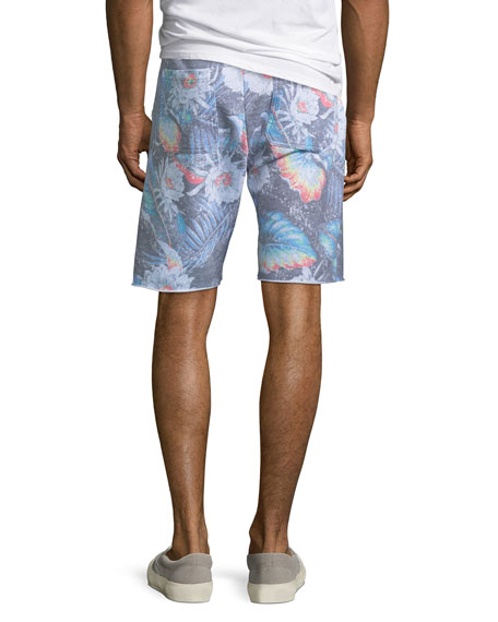 Men's Floral-Print Knit Shorts