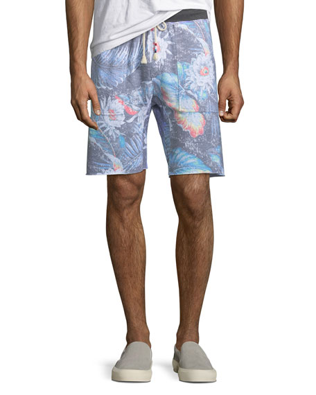 Sol Angeles Men's Floral-Print Knit Shorts