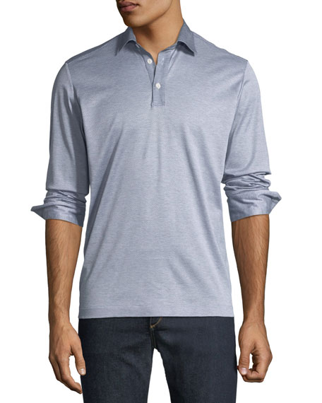 Men's Premium Italian Long-Sleeve Polo Shirt