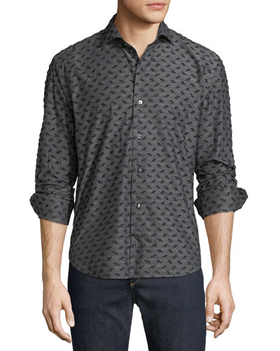 Men's Coupe Textured Sport Shirt