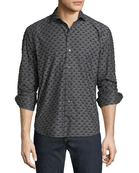 Culturata Men's Coupe Textured Sport Shirt