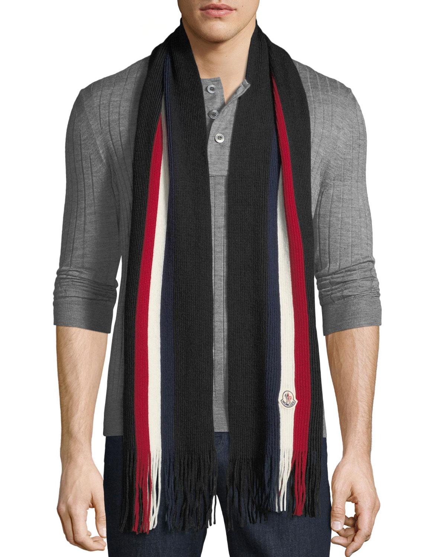 Moncler Men s Striped Wool Scarf  30cdb0085b6