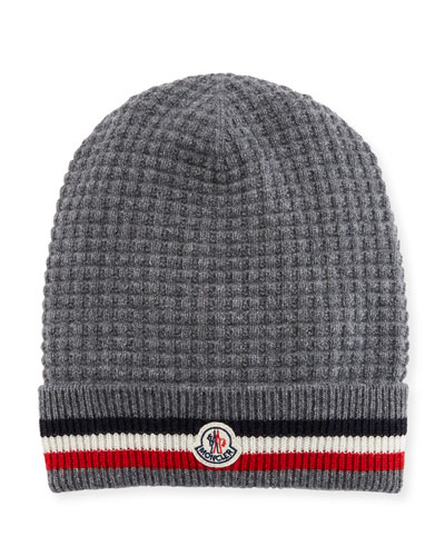 Men's Tricot-Knit Beanie Hat