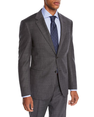 Men's Step-Weave Wool Two-Piece Suit
