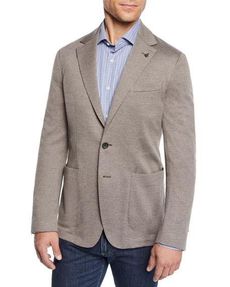 CANALI Men'S Knit Blazer in Tan