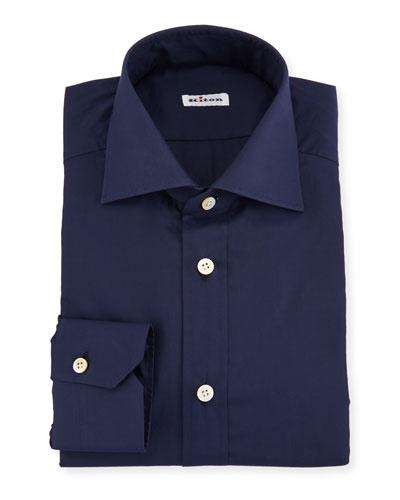 Solid Broadcloth Dress Shirt, Navy