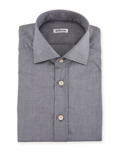 Solid Broadcloth Dress Shirt, Gray