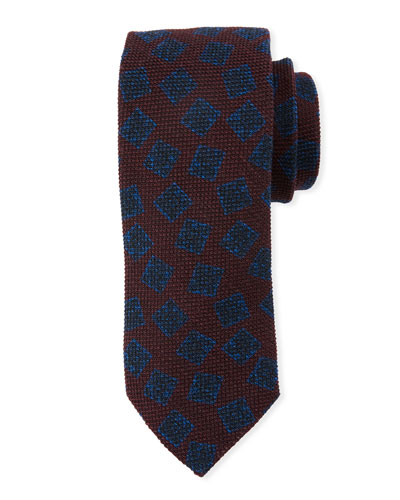 Textured Boxes Wool/Silk Tie
