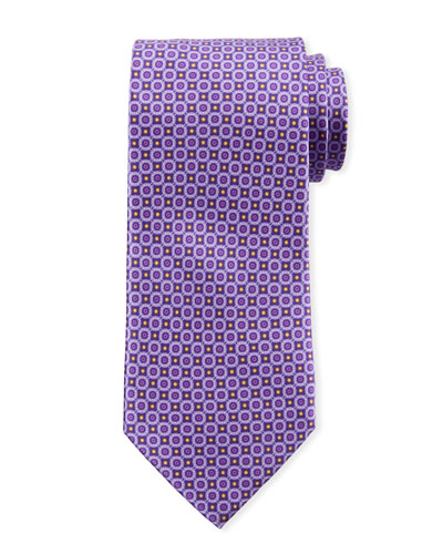 Men's Connected Circles Silk Tie