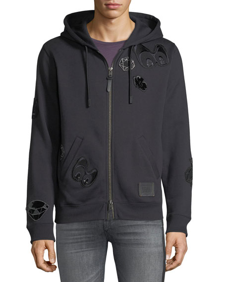 Disney Dark Fairy Tale Men's Snow White Grumpy Zip-Front Hoodie