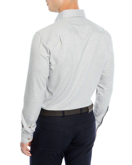 Men's Hamra Melange Cotton/Cashmere Sport Shirt