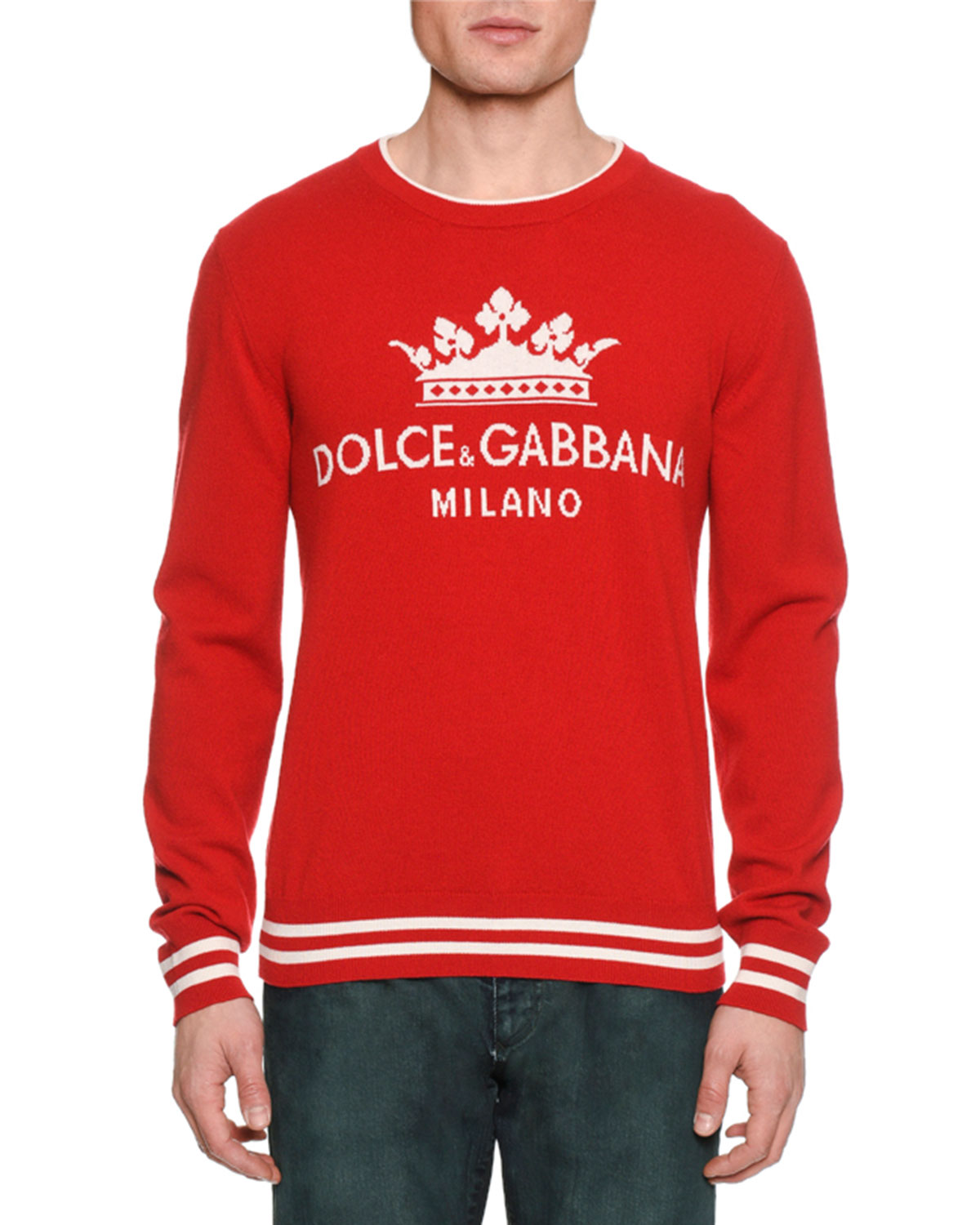 Mens Crown Graphic Cashmere Sweater
