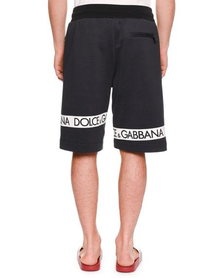 Men's Logo-Tape Sweat Shorts