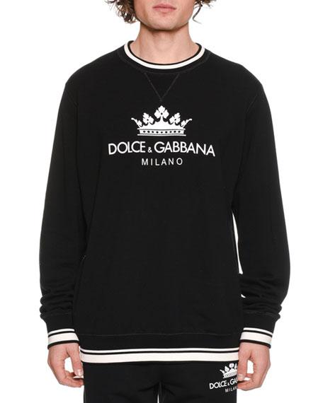 Men's Crown Logo Graphic Sweatshirt