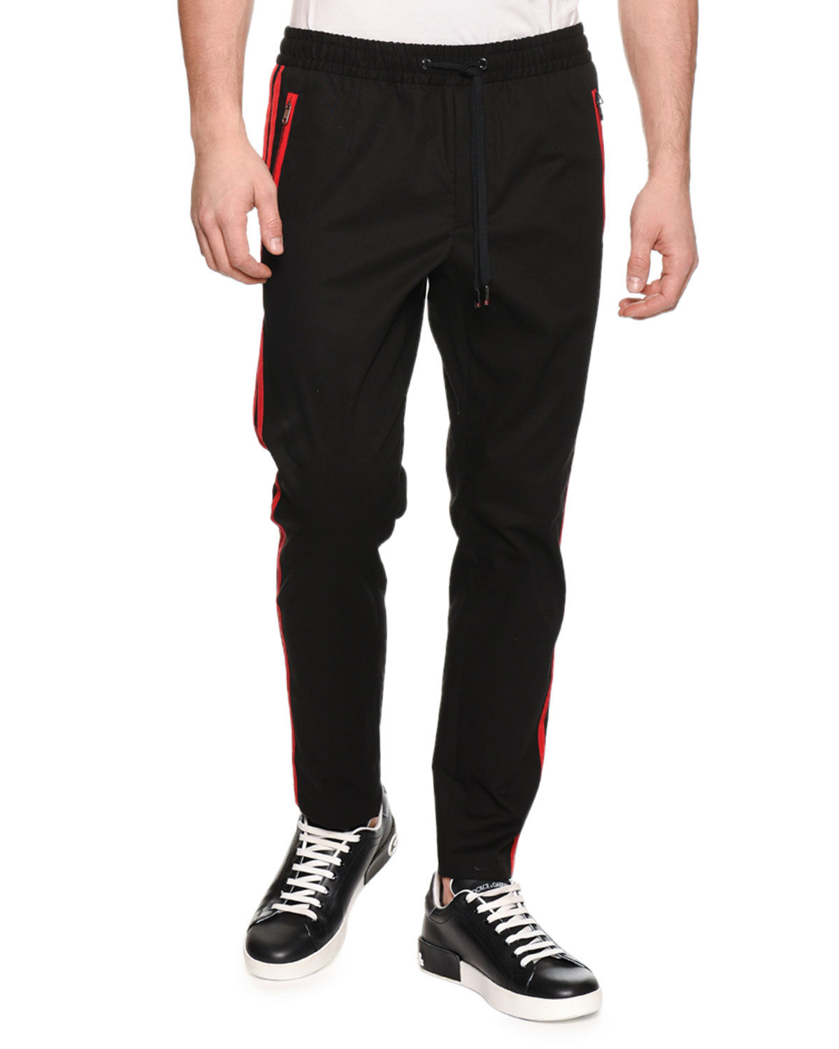Aolamegs Men Casual Pants Letter embroidery Side Stripe