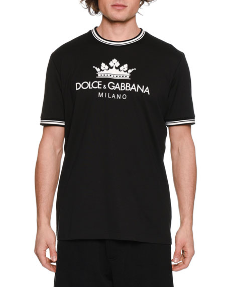 Dolce & Gabbana Men's Crown Logo Short-Sleeve T-Shirt