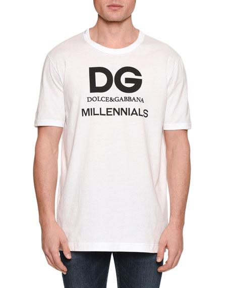Dolce & Gabbana Men's Logo Typographic T-Shirt